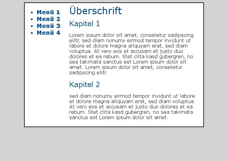 Arbeitsauftrag HTML/CSS/MODX - it-zeugs.de