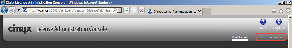 Citrix License Administation Console