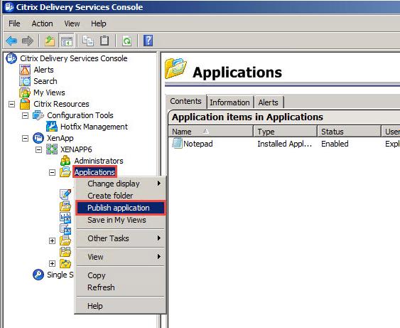 Citrix XenApp 6.0 Anwendungen freigeben