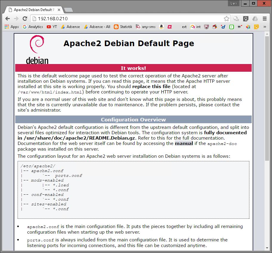 Einrichtung eines Web-Servers unter Linux (Debian)