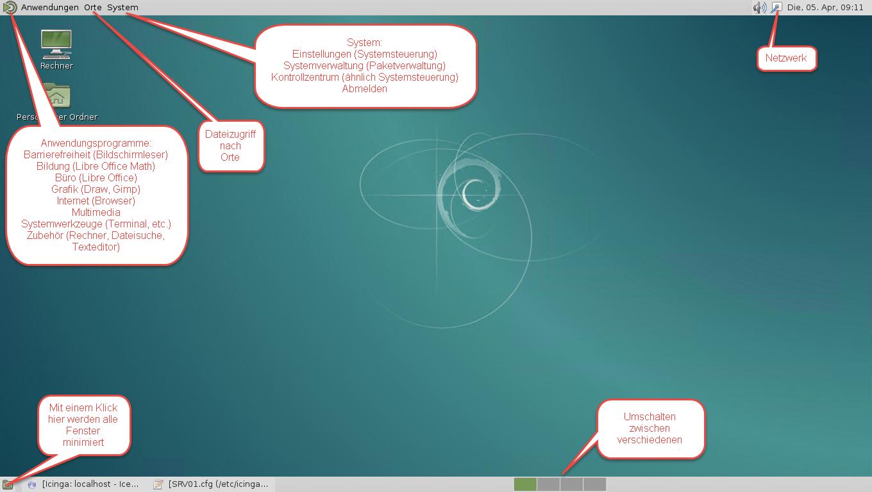 Debian Mate Oberfläche