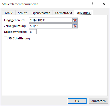 Excel Formular erstellen
