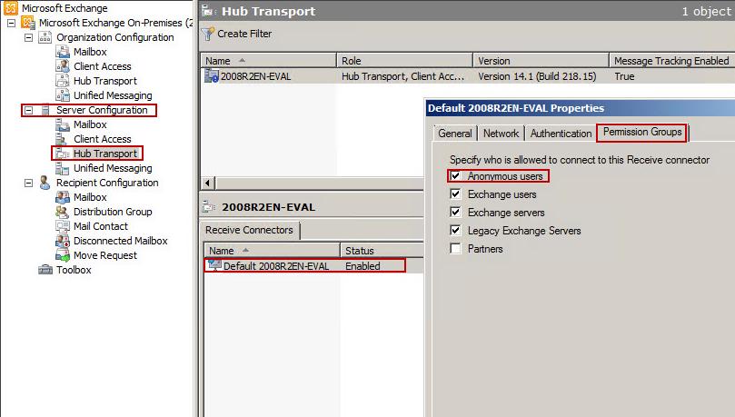 Anonymen Empfang von Mails in Exchange 2010 definieren