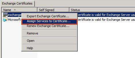 Exchange 2010 - Hier sind die Zertifikatseinstellungen