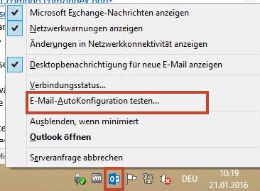 E-Mail-Autokonfiguration testen