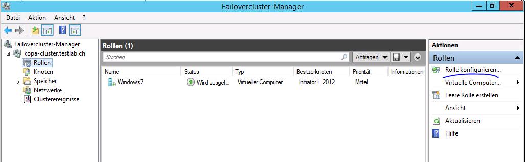 Hyper-V-VM nachträglich hochverfügbar machen