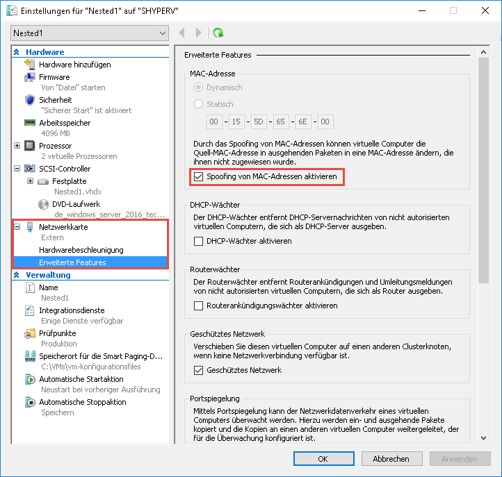 Windows Server 2016 - Nested Virtualization in Windows Server 2016