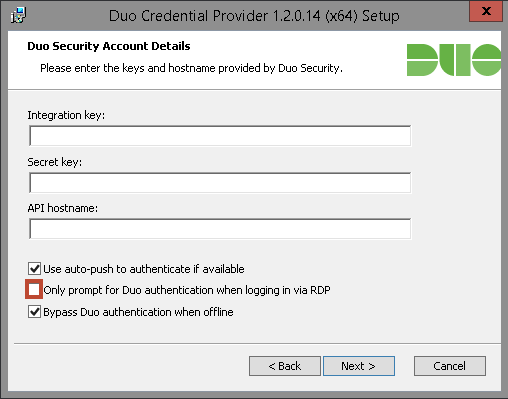 Installation Duo Security