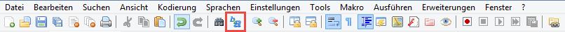Erweiterte Suche in Notepad++