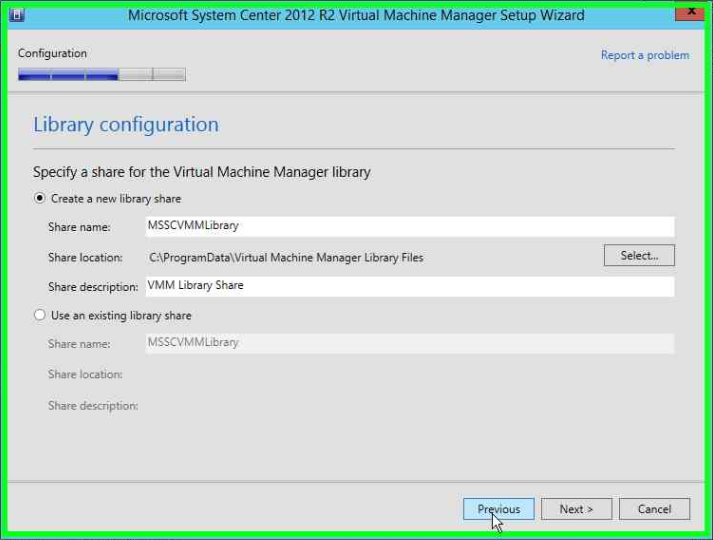 Installieren von System Center Virtual Machine Manager (SCVMM) 2012 R2