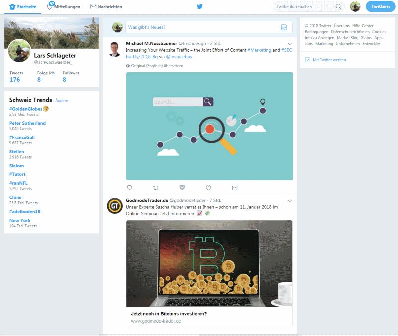 Die Twitter-Timeline