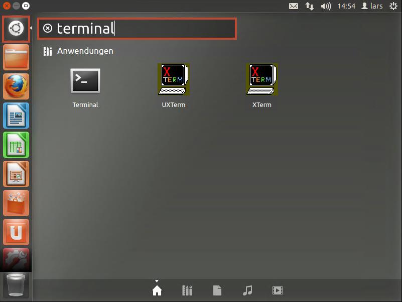 Ubuntu Oberfläche