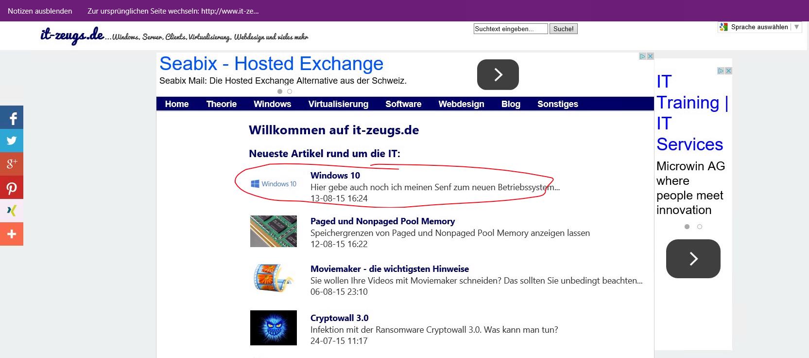 Windows 10 - Edge-Browser