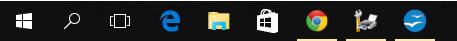 Windows 10 Taskleiste - noch flacher?