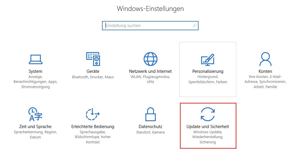 Windows 10 Update-Einstellungen überprüfen
