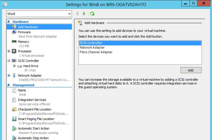 Eigenschaften einer Gen2-VM im Hyper-V-Manager