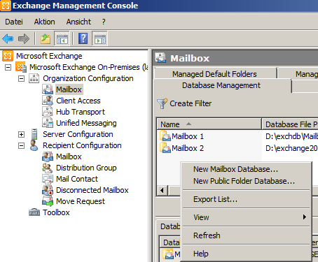 Exchange 2010 - Public Folder Database
