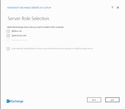 Exchange 2013 Installation unter Windows Server 2012