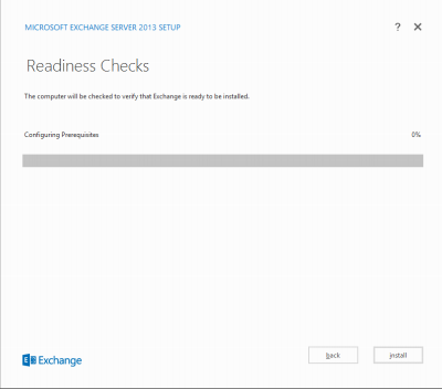 Exchange 2013 Installation unter Windows Server 2012
