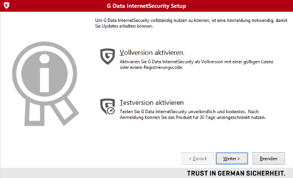 G DATA Internet Security 2015 Setup