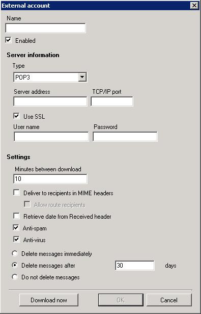 hMailServer Screenshot