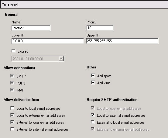 hMailServer Screenshot