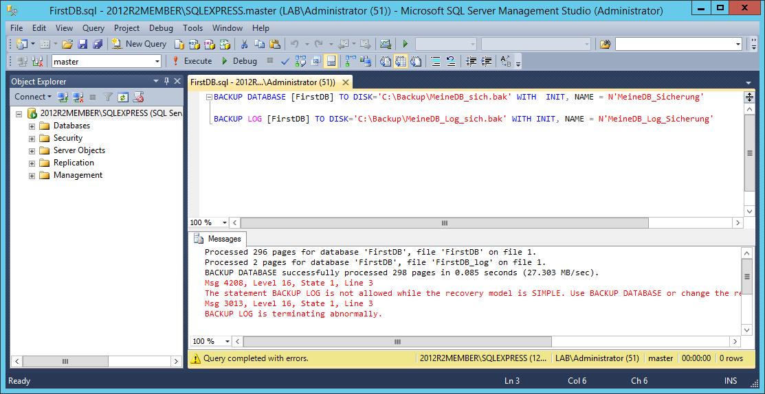 Einführung in SQL 2014 Express