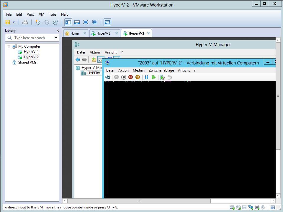 Einen Hyper-V Host mit VMware Workstation virtualisieren