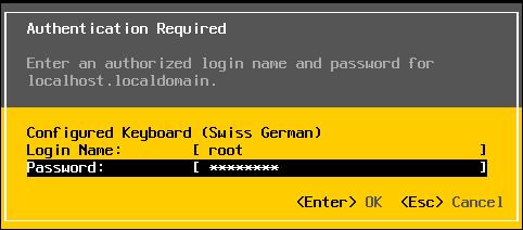 VMware ESXi Login