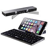 Faltbare Bluetooth Tastatur, EC Technology QWERTZ Layout Kleine Faltbar...