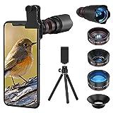 Handy Objektiv Linse Kit Lens Set 22X Teleobjektiv, 25X Makro Objektiv, 0,62X...