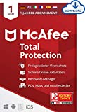 McAfee Total Protection 2021 | 1 Geräte | 1 Jahr | Antivirus Software,...