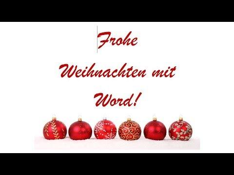 """Weihnachtspost mit Microsoft Office Word """"basteln"""""""