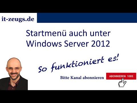 Startmenü auch unter Windows Server 2012 - mit Classic Shell
