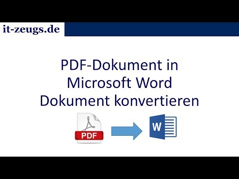 PDF-Datei in eine Microsoft Word-Datei konvertieren - Free