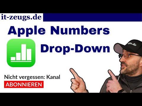 Wie man eine Drop Down List in Apple Numbers macht [Einblendmenü]