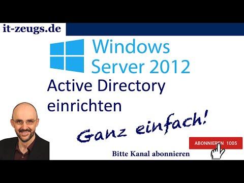 Windows Server 2012 Active Directory einrichten