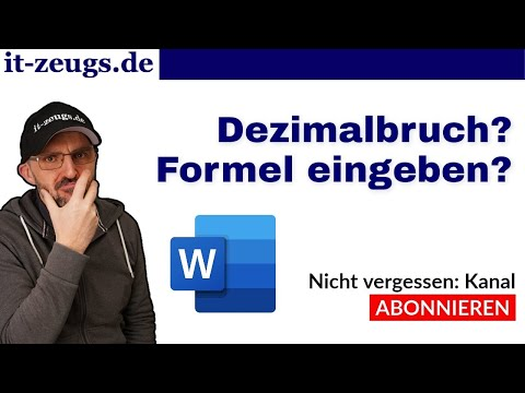 Dezimalbruch/Formel in Microsoft Word - so funktioniert es