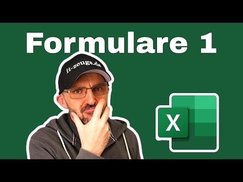 Excel Formulare erstellen - einfach erklärt [Excel für Einsteiger]