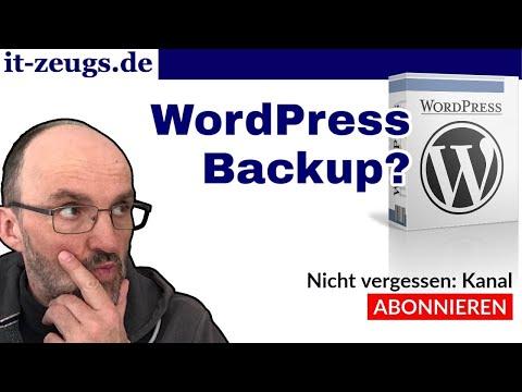 WordPress Backup warum   Mein Lieblings-Backup-Plugin