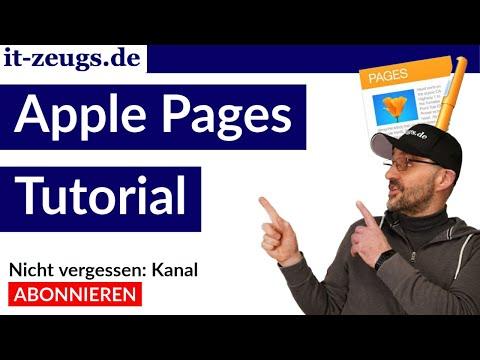 Textverarbeitung Apple Pages [Tutorial deutsch]