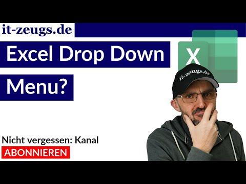 Excel Drop Down Menu in Zelle [Tutorial deutsch]