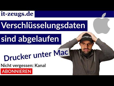 """Drucker """"Verschlüsselungsdaten sind abgelaufen"""" [FIX] Apple Mac"""