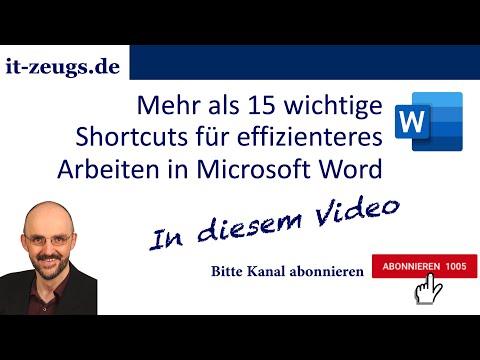 Mehr als 15 wichtige Shortcuts für effizienteres Arbeiten in Microsoft Word