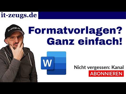 Word Formatvorlagen Tutorial [einfach erklärt]