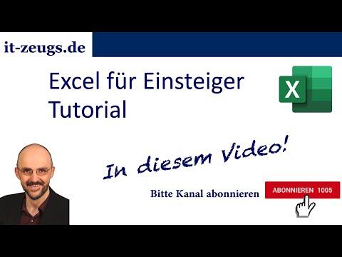 Excel für Einsteiger [Tutorial]