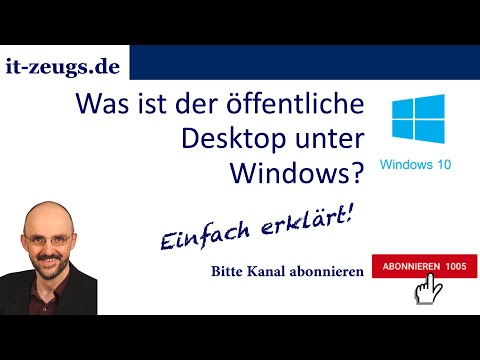 Was ist der öffentliche Desktop unter Windows?