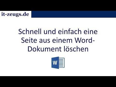 Microsoft Word: So löschst du eine Seite in einem Word Dokument