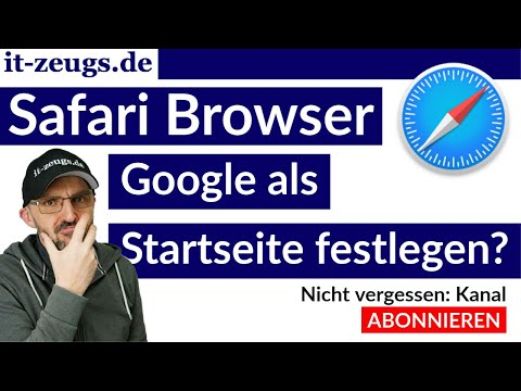 Google als Startseite festlegen | Apple Mac Safari