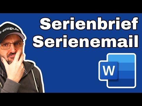 Word Serienbrief und Serienemail [Easy Tutorial für Einsteiger]